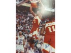 Stacey Augmon (Atlanta Hawks) Signed 16x20 Photo (Slight Fading of the signature)