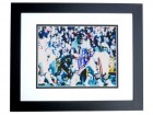 Bob Avellini Signed - Autographed Chicago Bears 8x10 inch Photo BLACK CUSTOM FRAME - Guaranteed to pass PSA or JSA