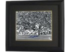 Terry Bradshaw signed Pittsburgh Steelers 16x20 B&W Photo Custom Framed (horizontal vs Cowboys)- JSA Hologram