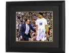 Jahlil Okafor signed Duke Blue Devils 16x20 Photo #15 Custom Framed (with Mike Krzyzewski)