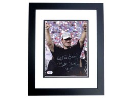 Bill Cowher Signed - Autographed Pittsburgh Steelers 8x10 inch Photo with Super Bowl inscription BLACK CUSTOM FRAME with PSA/DNA Authenticity
