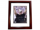 Bill Cowher Signed - Autographed Pittsburgh Steelers 8x10 inch Photo with Super Bowl inscription MAHOGANY CUSTOM FRAME with PSA/DNA Certificate of Authenticity (COA)