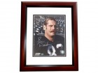 Ben Davidson Signed - Autographed Oakland Raiders 8x10 inch Photo MAHOGANY CUSTOM FRAME - Guaranteed to pass PSA or JSA
