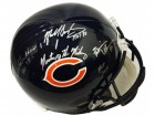Dick Butkus, Mike Singletary & Brian Urlacher Signed Chicago Bears Full Size Replica Helmet w/HOF Years & Monsters Of The Midway