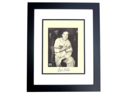 Bob Feller Signed - Autographed Cleveland Indians 8x10 inch Photo BLACK CUSTOM FRAME - Guaranteed to pass PSA or JSA with nudity