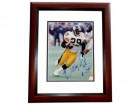 Barry Foster Signed - Autographed Pittsburgh Steelers 8x10 inch Photo MAHOGANY CUSTOM FRAME - Guaranteed to pass PSA or JSA