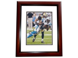 Brandon LaFell Signed - Autographed Carolina Panthers 8x10 inch Photo MAHOGANY CUSTOM FRAME - Guaranteed to pass PSA or JSA