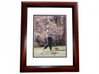 Bernhard Langer Signed - Autographed Golf 8x10 inch Photo MAHOGANY CUSTOM FRAME - Guaranteed to pass PSA or JSA - 1985 and 1993 Masters Champion