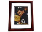 Bob Long Signed - Autographed Green Bay Packers 8x10 inch Photo with SUPER BOWL 1 AND 2 CHAMPS Inscription MAHOGANY CUSTOM FRAME - Guaranteed to pass PSA or JSA
