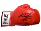 Riddick Bowe Signed Everlast Red Boxing Glove