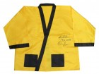 Riddick Bowe Signed Everlast Yellow Boxing Robe w/Big Daddy