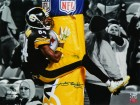 Antonio Brown Signed Pittsburgh Steelers Goal Post Hug Touchdown Celebration Spotlight 16x20 Photo