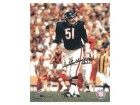 Dick Butkus Signed Bears Action 8x10 Photo