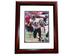 Brian Urlacher Signed - Autographed Chicago Bears 8x10 inch Photo MAHOGANY CUSTOM FRAME - Guaranteed to pass PSA or JSA - Future Hall of Famer