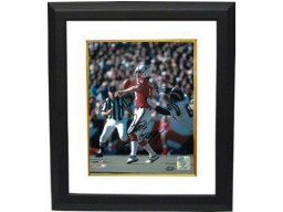 Steve Grogan signed New England Patriots 8X10 Photo Custom Framed