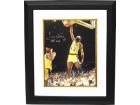 James Worthy signed Los Angeles Lakers 16x20 Photo HOF 2003 Custom Framed