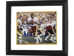 Joe Theismann signed Washington Redskins 16x20 Photo SBXVII Champs Custom Framed