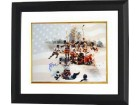 Mike Eruzione signed 1980 Team USA Olympic Hockey 16x20 Photo Custom Framed Team w/ Flag Miracle on Ice