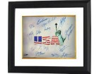 Carl Lewis signed Olympic Winners 16x20 Photo Custom Framed (White USA) w/ 15 signatures (14 Gold Medal Winners- 14 Team USA)
