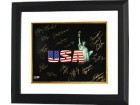 Lolo Jones signed Olympic Winners 16x20 Photo Custom Framed (Black USA) w/ 15 signatures (14 Gold Medal Winners- 14 Team USA)