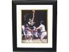 Artis Gilmore signed San Antonio Spurs 16x20 Photo Custom Framed HOF 2011 vs Bullets