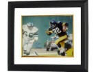 Bill Bergey signed Philadelphia Eagles 16x20 Photo Custom Framed vs Franco Harris/Steelers