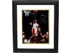 Eddie Johnson signed Houston Rockets 8x10 Photo Custom Framed- Tri-Star Hologram