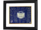 Jimmy Key signed New York Yankees 16x20 Photo Custom Framed 2008 Yankee Stadium Final Season Logo with 71 signatures