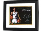 George Gervin signed San Antonio Spurs 16x20 Photo Custom Framed 3 insc Iceman, HOF 96, TOP 50 (Collage)
