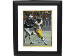 Charlie Joiner signed San Diego Chargers 8x10 Photo Custom Framed HOF 96 (white jersey vs Bills)