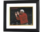 Bobby Knight signed Indiana Hoosiers 16x20 Photo (red sweater yell horizontal) Custom Framed- JSA Hologram