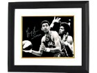 George Gervin signed Virginia Squires ABA 16x20 Vintage B&W Photo Custom Framing w/ Iceman Insc