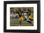 Adam Pacman Jones signed West Virginia Mountaineers 8x10 Photo #9 Custom Framed (navy jersey)