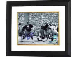 Sonny Jurgensen signed Washington Redskins B&W 16X20 Photo HOF 83 Custom Framed- Jurgensen Hologram