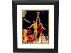 Kareem Abdul-Jabbar signed Los Angeles Lakers 16x20 Photo Custom Framed- Online Authentics Hologram