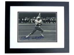 Billy WHITE SHOES Johnson Signed - Autographed Houston Oilers 8x10 inch Photo BLACK CUSTOM FRAME - Guaranteed to pass PSA or JSA