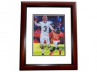 Brandon Weeden Signed - Autographed Cleveland Browns 8x10 inch Photo MAHOGANY CUSTOM FRAME - Guaranteed to pass PSA or JSA