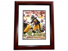 Bam Morris Signed - Autographed Pittsburgh Steelers 8x10 inch Photo MAHOGANY CUSTOM FRAME - Guaranteed to pass PSA or JSA