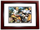 Bart Starr Signed - Autographed Green Bay Packers 8x10 inch Photo MAHOGANY CUSTOM FRAME - Guaranteed to pass PSA or JSA - Hall of Famer