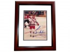Bernie Nicholls Signed - Autographed New York Rangers 8x10 inch Photo MAHOGANY CUSTOM FRAME - Guaranteed to pass PSA or JSA