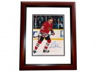 Bernie Nicholls Signed - Autographed Chicago Blackhawks 8x10 inch Photo MAHOGANY CUSTOM FRAME - Guaranteed to pass PSA or JSA