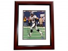 Bill Romanowski Autographed Denver Broncos 8x10 Photo MAHOGANY CUSTOM FRAME