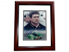 Bobby Labonte Signed - Autographed Auto Racing 8x10 inch Photo MAHOGANY CUSTOM FRAME - Guaranteed to pass PSA or JSA