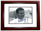 Bobby Unser Signed - Autographed Auto Racing 8x10 inch Photo MAHOGANY CUSTOM FRAME - Guaranteed to pass PSA or JSA