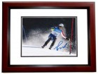 Bode Miller Signed - Autographed Olympic Downhill Skiing - Alpine Ski Racer 8x10 inch Photo MAHOGANY CUSTOM FRAME - Guaranteed to pass PSA or JSA