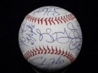 Atlanta Braves (2013) Signed Major League Baseball in Blue Ink by the 2013 Atlanta Braves Team (Including Manager Fredi Gonzalez)