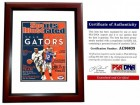 Corey Brewer and Chris Leak Signed - Autographed 2007 Sports Illustrated SI Magazine Cover MAHOGANY CUSTOM FRAME - Florida Gators MVPs - PSA/DNA Certificate of Authenticity (COA)