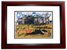 The Open Championship Signed - Autographed British Open 8x10 Photo MAHOGANY CUSTOM FRAME - Fuzzy Zoeller, Curtis Strange, etc.