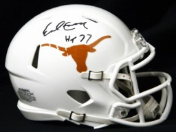 Earl Campbell Signed Texas Longhorns Riddell Speed Mini Helmet w/HT'77