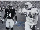 Earl Campbell Autographed Houston Oilers 16x20 Photo w/Walter Payton & JSA